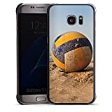 Samsung Galaxy S7 Edge Housse Étui Protection Coque Volleyball Sable Plage