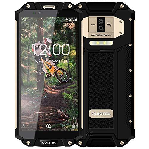 10000 mAh Outdoor Handy-OUKITEL WP2 4G LTE Rugged Smartphone Ohne Vertrag,6 Zoll 18:9 FHD+,4GB RAM+64GB ROM,Android 8.0 Dual-SIM(IP68 Wasserdicht, Staubdicht, Stoßfest),16MP+2MP+8MP Kameras(Roségold)