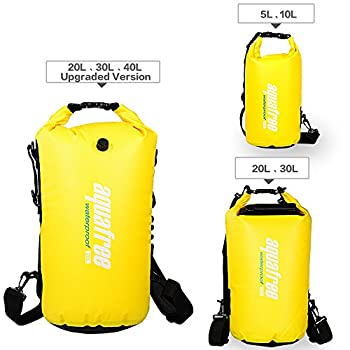 Aquafree Dry Bag, 20l Yellow Dry Backpack, Comfortable & Heavy-duty Grab Handle & Shoulder Strap, Best Material Waterproof Backpack, Quality Roll Top, Waterproof 3