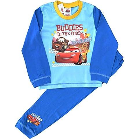 Boys lungo Disney Cars Saetta McQueen pigiama dimensioni 18 mesi a 5 anni