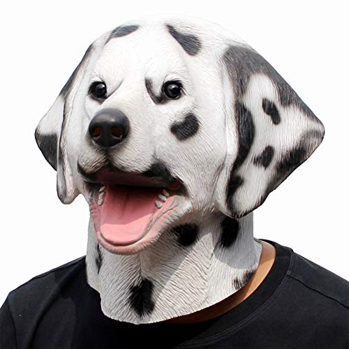 Full Dalmation Head Mask. Why not add to the suit. Creepy or fun? You decide!