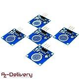 AZDelivery ⭐⭐⭐⭐⭐ 5er Set TTP223B digitale capacitivo touch sensor, Modulo Switch per Arduino