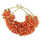 Foppish Mart Chotu Bright Orange Hoops F...