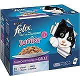 FELIX Katzenfutter 6er Pack, (6 x 12 x 100 g) Beutel