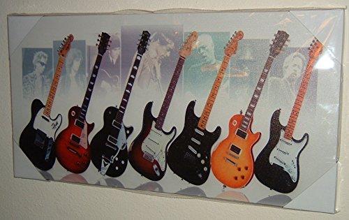 legends-of-rock-gitarren-clapton-gilmore-seite-gedehnt-montiert-leinwand-kunstdruck-marke-new