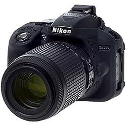 easyCover ECND5300B Coque en Silicone pour Nikon D5300 Noir