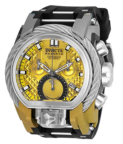 Invicta Men's Reserve Black Steel Bracelet & Case Swiss Quartz Watch 26444