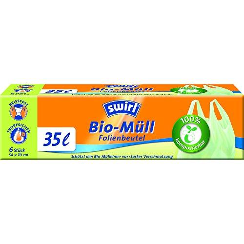 Swirl Bio-Müll-Folienbeutel mit Tragegriff, 35 Liter, 4 Rollen mit je 6 Beuteln