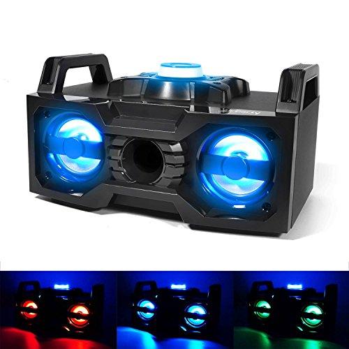 Enceinte nomade USB/BLUETOOTH 50W à LEDs (7 couleurs)