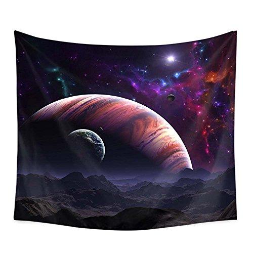 PYHQ Universo Planeta Galaxia Tapiz Pared,Hippie Bohemia Art,Dormitorio Fiesta Cumpleaños Habitación Decoración