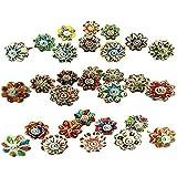Knobsworld – 20 knopen, klein, 2,5 cm, gesorteerd, zeldzame handbeschilderde keramische knoppen voor schuifladen