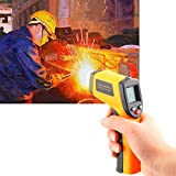 Handheld Non-Contact Digital Laser IR Infrared Thermometer Temperature Gun -58℉ - 626℉ for Kitchen Cooking BBQ Automotive Industrial,Accuracy Reading HD Backlit LCD Display