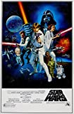 Star Wars .. Retro Sci-Fi Movie Poster 1... Various Sizes (A4 Size 21 x 29 cms)