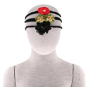 B Blesiya 3 Stück Baby Haarband Stirnband Blumen Kopfband Baby Mädchen Fotografie Props