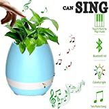 #8: OPTA Music Flowerpot,Smart Plant pots,Touch Music Plant Lamp with Rechargeable Wireless Bluetooth Speaker and LED Night Light (without Plant) Special Launch Offer!!!! - Blue