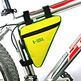 #3: WINOMO Bike Bag Bicycle Triangle Frame Bag Waterproof Bags MTB Road Bike Pouch Frame Holder Under Seat Top Tube Saddle Bag Bicicleta Accessories (Yellow and Green)