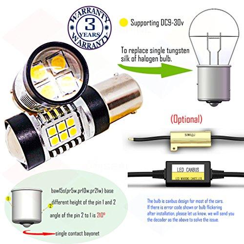 Preisvergleich Produktbild Wiseshine 5000k baw15s pr5w pr10w r782 7508 led birne lampen DC9-30v 3 Jahre Qualitätssicherung (2 Stück) baw15s 22smd 3030 natürliches Weiß