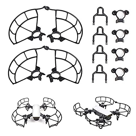 Shizak Propeller Guards Bumpers Protector + train d'atterrissage stabilisateurs Rehaussez