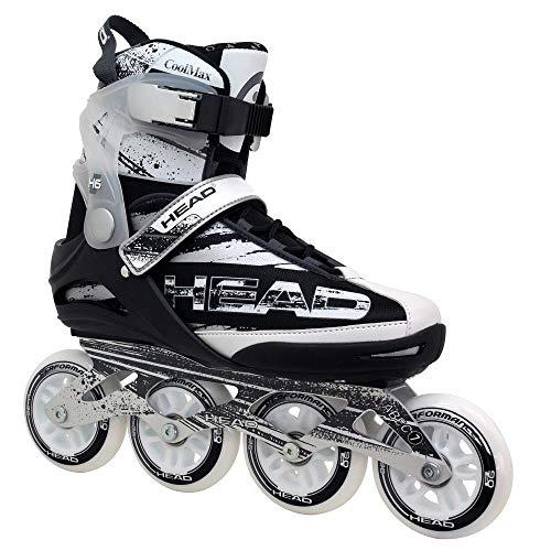 HEAD Fitness Inline Skate Raptor SR - Größe 43, 90mm - 82A Sport Straßen Inliner, ABEC 7 Bearing, Softboot, Rollschuhe für Jungen und Männer