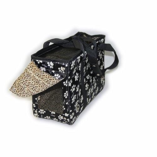 B-JOY leggero borsa a tracolla per il trasporto Borsa per cani a forma di casa di custodia a forma di cane & gatto Stampa di zampa nera Muchos Tipos De Colecciones De Venta Baratos PhWswQI3M