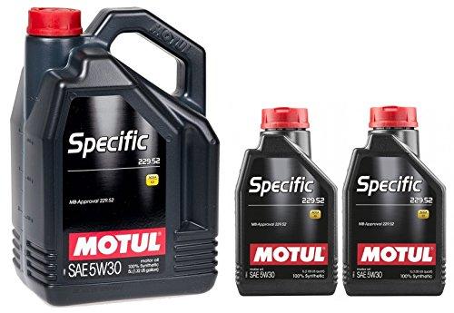 Motul Specific MB 229.52 5W-30 olio motore completamente sintetico per auto - Service Pack: 7 lit