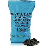 12KG of Premium Grade Large Lumpwood Restaurant Cooking Charcoal- Comes with THE LOG HUT® Woven Sack