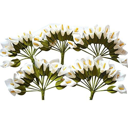 144 fiorellini calle bomboniere comunione matrimonio vari colori (bianco)