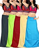 #4: Ramaya Women's Cotton Petticoat Combo Pack of 5 (PTC03_Free Size_multi)