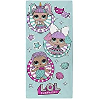 L.O.L. Surprise! Bath Towel for Girl Beach Towels for Girls Confetti Pop 100% Cotton with Merbaby Diva Unicorn