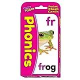 Trend 56-Piece 8 x 13 cm Phonics Pocket Flash Cards, White