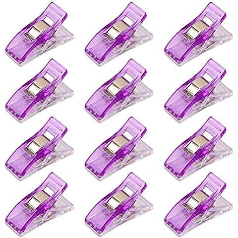 Pixnor spina di vestiti 50pcs clip Quilters cucito Clip Quilting forniture viola
