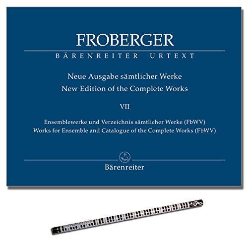 Froberger - Ensemblewerke und Verzeichnis sämtlicher Werke (FbWV) - sämtlicher Werke 7 [Noten - sheet music] mit Piano-Bleistift