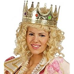 Corona Rey Color Oro en Tela Accesorio Disfraz Carnaval Halloween Fiesta