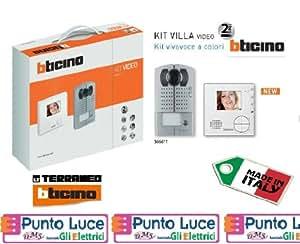 Kit bticino vivavoce monofamiliare a colori con 1 for Videocitofono bticino prezzi