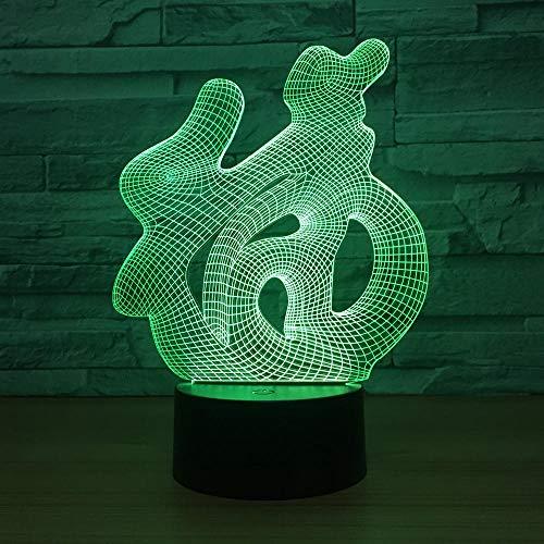 3D Optische Illusions-Lampen Segen 7 Farben Erstaunliche Optische Täuschung Die Schlafzimmer-Dekoration Für Kinder Weihnachten Halloween-Geburtstagsgeschenk Beleuchten