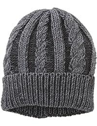 Wrangler Herren Strickmütze Cable Hat Dark Grey Mel Strickmütze