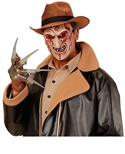 3 Teile ANGEBOT Kostüm Set - Freddy - ( Hut, Maske & Messerhand ), Film Verfilmung Serienkiller (Serienkiller Kinder Kostüm Für)