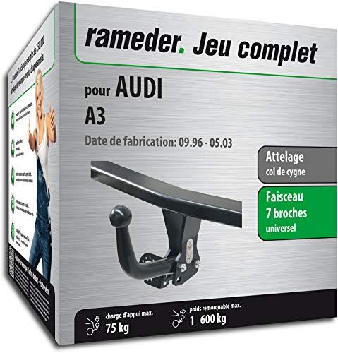 Rameder Attelage démontable avec Outil pour Audi A3 + Faisceau 7 Broches (128592-01557-2-FR)