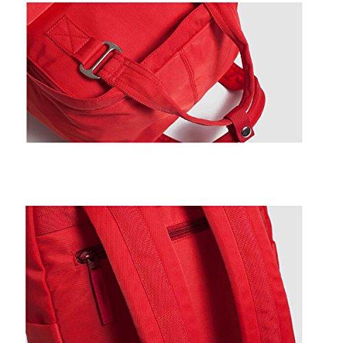 5caab8a9f6f5a Womens Einfarbig Rucksack Wasserdichte Nylon Laptop Schultertasche Pink