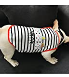 Vest Costume Pet Dog Stripe T Shirt Clothes Soft Summer Outfit Breathable Leisure Style Comfortable Fit Easy To Wear,C,XXL