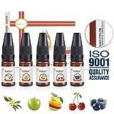 Kebor E Liquide Fruités pour E Cigarette E Juice en Premium 5 x 10 ml VG PG 70 30...