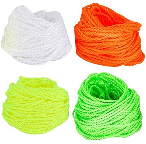 fgfak 40 pcs Polyester yoyo Strings (10 Each - 4 differernt Florescent Colors,Green,Yellow,Orange,White) Kids Toys Gifts Classic Toys,Polyester Rope Replacement
