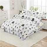 Huichao Baumwoll-24-teilige Baumwollbettverpackung 1,8m Bettdecke Deckel Blätter dreiteilig,White