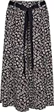 """Kentex Online Women's 35"""" Length Skirts Ankle Length in Cool Light Weight Viscose Prints Sizes 10 to 24 (16, Black)"""