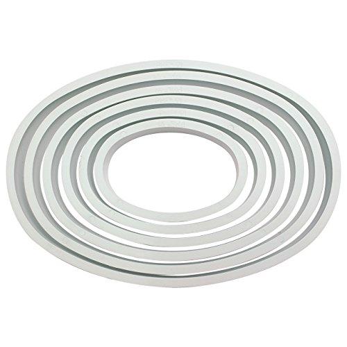 Cake-Company-Ausstecher-Set-Oval-aus-Kunststoff-6-Gren-fr-Fondant-Ausstech-Form-fr-Torten-Deko-Torten-Verzierung-geeignet-fr-Kuchen-Deko-Pltzchen-Teig-Kekse-zu-Ostern