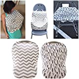 Yaya Stretchy Multi Use Car Seat Canopy (2 Cover Set) - Nursing Cover For Breatfeeding - Shopping Cart &High Chair Cover.