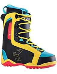 Microondas de los niños Junior snowboard-schuhe, color black/yellow/Red/Blue, tamaño 35