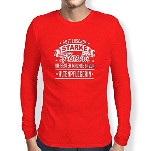 TEXLAB - Altenpflegerin - Herren Langarm T-Shirt Rot