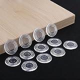 Paraurti da tavolo in vetro trasparente, pad distanziatore da tavolo in vetro, materiale in PVC morbido, per evitare che il piano in vetro scivoli, il cuscino per piano tavolo in vetro, ventosa in vet