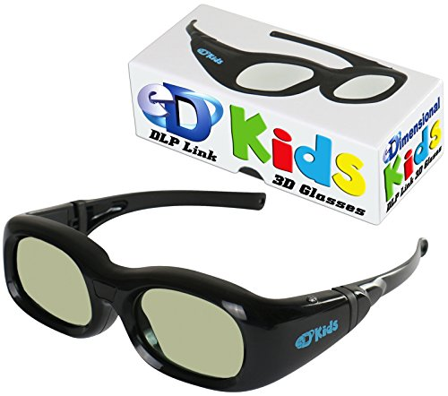 KIDS DLP LINK eDimensional Elite 144 Hz Active Rechargeable eD Children s 3D Glasses for All 3D DLP Projectors - BenQ Optoma ViewSonic Endless Others
